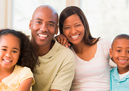 Afro American Family Smiles